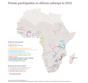 Private participation in African railways in 2010