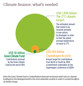 Climate finance: what's needed