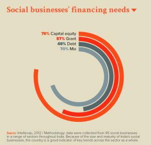 Social businesses' financing needs