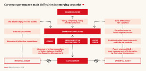 Corporate governance: main difficulties in emerging countries